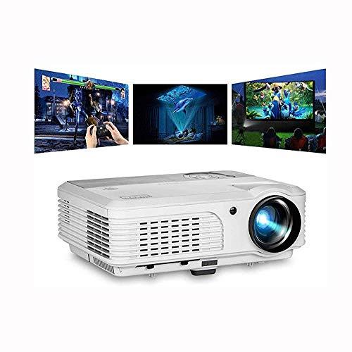 JFZCBXD HD-Projektor Multimedia Video-Projektoren 1080P LED Heimkino Cinema Büro-Projektor Video Beam mit USB RCA-Audio-Lautsprechern