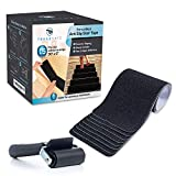"""TreadSafe (15-Pack) Anti Slip Grip Traction Tape   6"""" x 30""""   Black Pre-Cut Anti-Slip Grip Tape   Black Anti-Slip Indoor Outdoor Strips   Easy Install"""