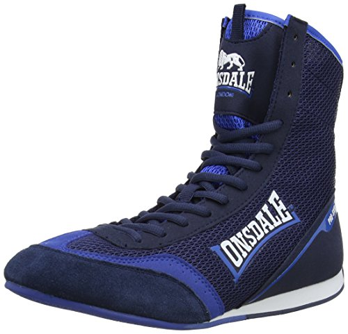 Lonsdale Mens Mitchum Shoes High Top Boxing boots LMA442 Navy/Blue 8 UK, 42 EU