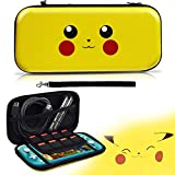 Etui pour Switch Lite, Housse Protection pour Pokemon Switch Lite,[Conception Let's Go Pikachu/Eevee Pouch], Sacoche de Transport Rangement Portable pour Switch Lite [Jaune]