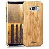 kalibri Cover compatibile con Samsung Galaxy S8 - Cover rigida in legno naturale - Back-Case Backcover - Custodia protettiva
