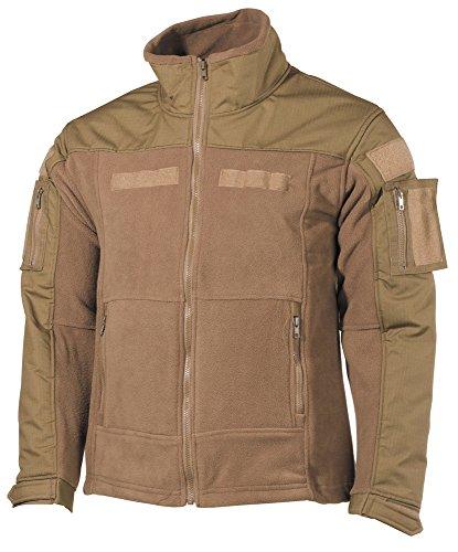 Fleece-Jacke, Combat, coyote tan Größe: L