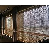 Tende di bambù per Esterni, Tapparelle A Rullo per Finestre, Tende A Rullo Romane, Tessuti A Mano, Protezione Solare, Tende con Filtro Leggero, Facili da Installare,100x200cm/39.5x79in