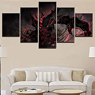 Artwap Canvas Poster Hd Printed Living Room Decoration Frameworks 5 Pieces Dota 2 Shadow Fiend Game Painting Wall Art Popular Pictures size2