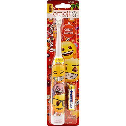 Brush Buddies Emoji Sonic Powered Toothbrush, Multi