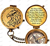 De Cube American Bald Eagle Customized Boy Scouts Gift Compass with Leather case, for Eagle Scout, Boy Scouts of America, Graduation, Eagle Ceremony (Pre-Engraved)