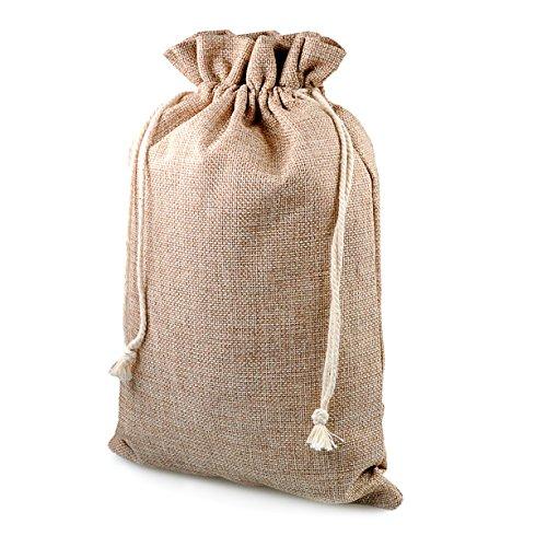 Ganzoo Geschenk-säckchen für Weihnachten, 2 Stück im Set, Jute-säckchen, Jute-Sack, Jute-Beutel, Stoff-Beutel, Natur Säckchen, Sack, Beutel, Größe: XL (29,5 cm x 20,5 cm), Farbe beige/Natur, Marke
