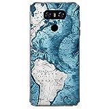Coque G6 Housse LG G6 Carte du Monde avec décoration Murale en marbre Bleu/Coque Imprimer Aussi sur...