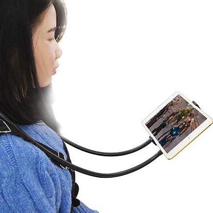 Hemiza Universal Multipurpose Hanging Neck Stand Mobile Holder for Most Smart Phones (Multi Color)