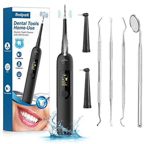 New Electric Dental Calculus Remover, Ultrasonic Tooth Cleaner Portable Sonic Tartar Plaque Stain Remover for Teeth Cleaning Tools Kit