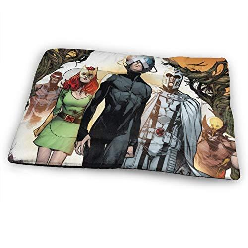 AMSYES X-Men- Comics - Colchón extragrande para mascotas para gatos, color negro, cojín para caseta de gato de 132 x 86 cm