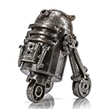 KALIFANO R2D2 Inspired Recycled Metal Sculpture Handcrafted from Scrap Metal - One of a Kind Handmade Star Wars Inspired Steel Art