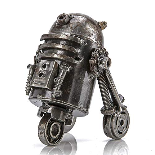 KALIFANO R2D2 Inspired Recycled Metal Sculpture Handcrafted from Scrap Metal - One of a Kind...