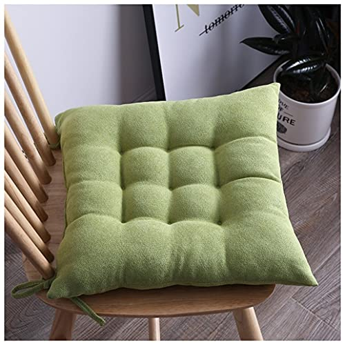 Set Of 2 Indoor Chair Cushion/Outdoor Chair Pads Garden Patio Home Kitchen Office Chair Seat Cushion Pads Sofa Seat Cushion Buttocks Cushion Pads (Color : Green, Size : 40 * 40cm)