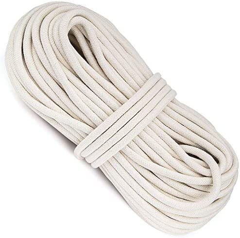 HOZEON 3 8 Inch x 164 Feet Natural Cotton Rope White Heavy Duty Clothesline Cord Craft Knitting product image