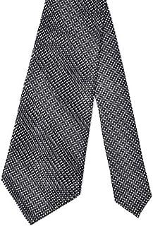 [STEFANO RICCI【ステファノリッチ】] 33052 003 プリーツネクタイ シルク 小紋 ブラック×ホワイト
