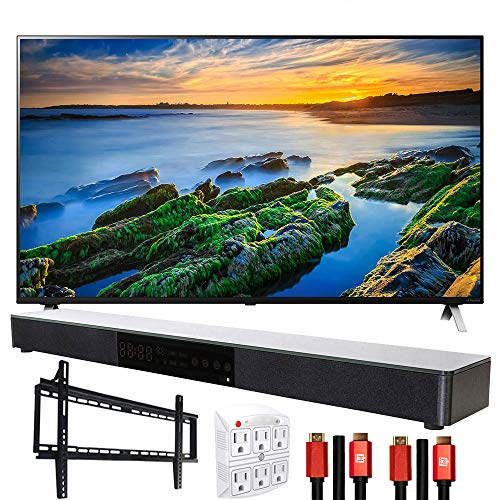 LG 49NANO85UNA 49' Nano 8 4K TV w/AI ThinQ (2020) with Deco Gear Soundbar Bundle