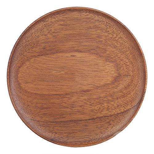 Vassoi in legno naturale Tipi di pane in legno Piatto in legno Piatto rotondo Piatto in legno Ciotola in legno Piatto da portata Vassoio in legno rotondo per frutta (24cm)