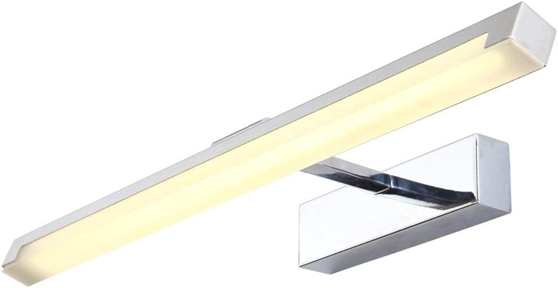QAZ Badewanne Spiegelleuchten Spiegel vorne Leuchten, Moderne, einfache Led wasserdicht Nebel Badezimmer Badezimmer Spiegel Leuchten Toiletten Make-up-Leuchten (Farbe  warmes Licht-16 W 39 CM)