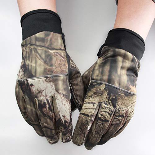 L-MEIQUN, Herbst Winter Outdoor Vollfingerhandschuhe Angeln Jagdblatt Tarnhandschuhe Fausthandschuh Zwei Finger Anti-Rutsch-Reithandschuhe (Color : Army Green, Size : XL)