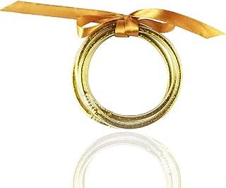 ABITONCC Round Glitter Jelly Bangle Bracelet Silicone Bow-knot Rope Diy Bracelet Women Girl