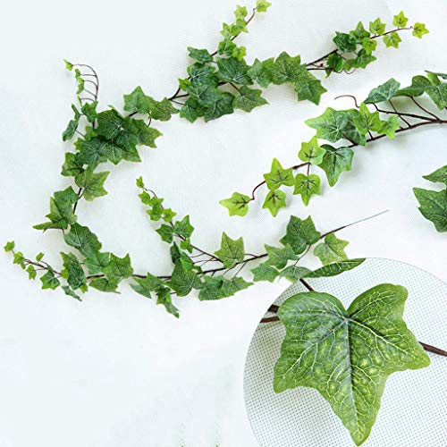 zvcv Artificial Ivy Vine, Artificial Creeper Ivy Garland Fake Vine Uv Resistant Green Leaves Fake Plants Hanging Vine Plant For Wedding Party Garden Wall Decoration,180Cm
