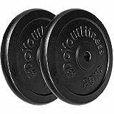 #DoYourFitness Hantelscheiben Set 2x20kg Gewichtsscheiben 100% Gusseisen - 30/31mm Bohrung 1,25kg 2,5kg 5kg 10kg 15kg o. 20kg für Langhantel...