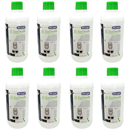8er Pack DeLonghi Entkalker EcoDecalk für Kaffevollautomaten DLSC500 / 8004399329492 - 500ml