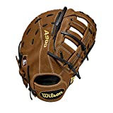 Wilson A900 12' First Base Baseball Mitt - Right Hand Throw , British Tan/Black