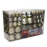 Set de 100 Bolas de Navidad Ø3/4/6cm plástico champán Adornos del árbol de Navidad decoración navideña decoración para el Abeto