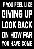 Poster mit inspirierendem Motivationsspruch (If you feel