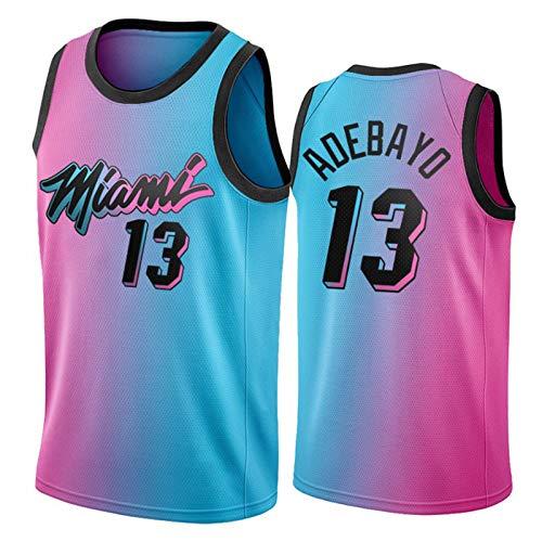 Bam Adebayo Jersey para Hombres, 2021 New Temporada Miami Heat 13# City Edition Basketball Jerseys, Camiseta de Malla Neutral Transpirable y Resistente al Desgaste S