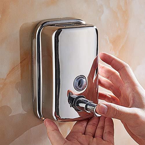 ZKZK Caja de almacenaje 500ml Punch-Libre montado en la Pared de Prensa de Tipo 304 Acero Inoxidable Soap Box Hotel dispensador de jabón