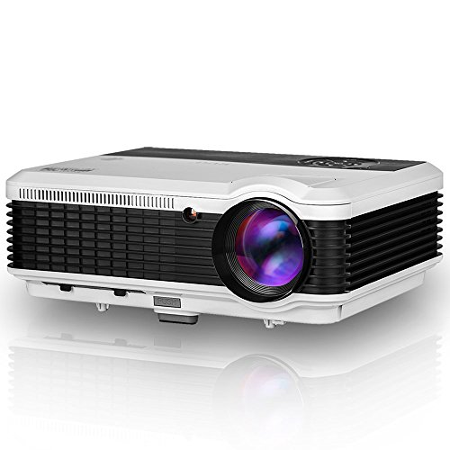 HD Projector 3900 Lumen LCD LED Digital Home Theater Projector 1080P Support Multimedia Video Projector for Gaming Outdoor Entertainment Movies Sport Events Party Laptop DVD TV Stick