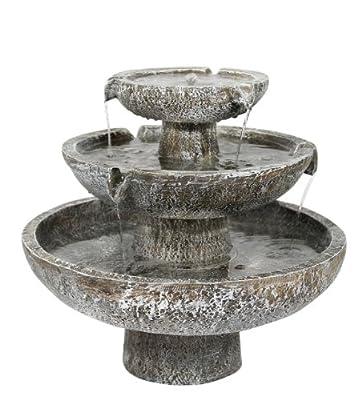 Ambiente Solar Cascade 3-Tier Fountain Water Feature
