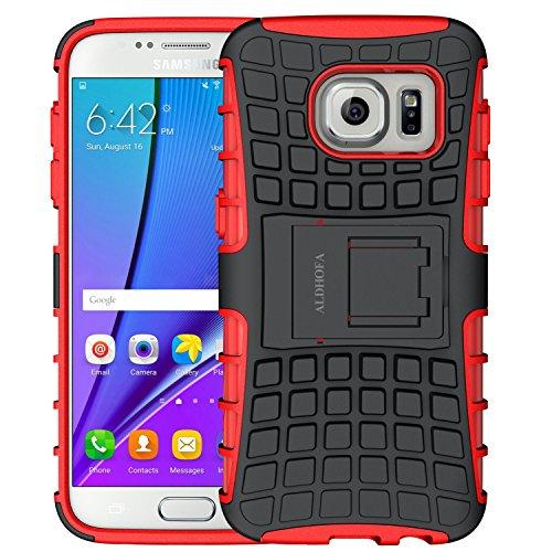 ALDHOFA Samsung Galaxy S7 Hülle,(TPU Series) Handyhülle Schutzhülle Silikon für Samsung S7-Rot