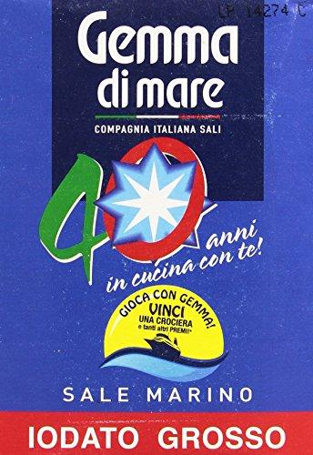 Gemma Di Mare - Sale Mar Iodato Grosso - 6 pezzi da 1 kg [6 kg]