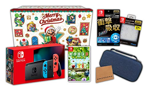 【Amazon.co.jp限定】<ニンテンドースイッチ ホリデーギフトセット>ピクミン3 デラックス+Nintendo Switch 本体 ネオンブルー/ネオンレッド+アクセサリーセット+おまけ付き