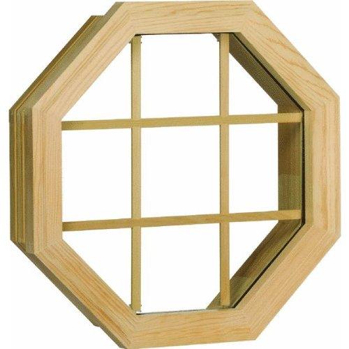 Wood Octagon Single Window