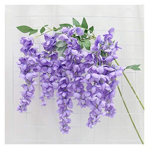 WANGJBH Dried Flowers Arbre de Noël Wisteria Fleurs artificielles Vigne Guirlande en Soie Orchidée Violet Plafond Wall De Mariage Arch Décor 1PC Potpourri (Color : Purple Wisteria)
