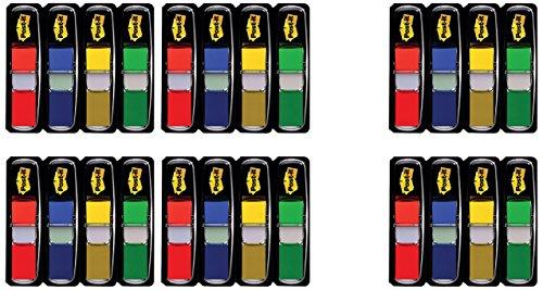 Post-it 683-4+2 Index Mini Promotion (11,9 x 43,2 mm, 24 x 35 Haftstreifen) rot, blau, gelb, grün