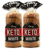 White Keto Bread - Zero NET Carbs - Keto Diet Approved - 2 Loaf Pack (2 x 18oz)