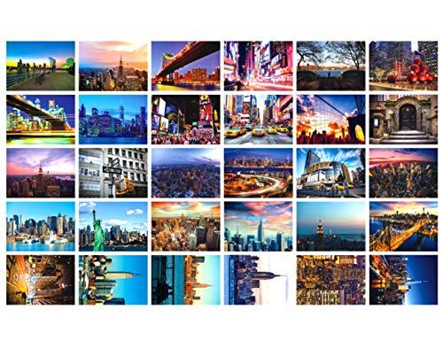Reise-Postkarten, Set mit 30 Postkarten, verschiedene Postkarten, 10 x 15 cm new york