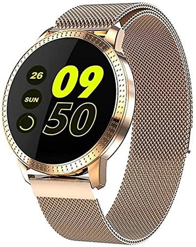 wyingj Reloj inteligente redondo de la exhibición impermeable de las señoras Ip67 del reloj inteligente del tacto completo bluetooth-E