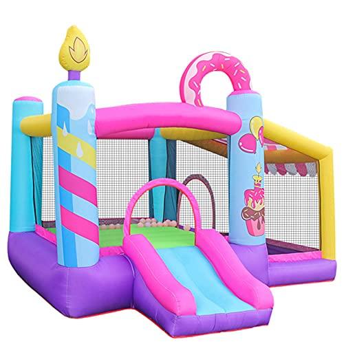 Castillo Hinchable Infantil con Tobogán Cama de Salto Inflador y Bolsa de Transporte para Interior y Exterior 290x270x220 cm Multicolor