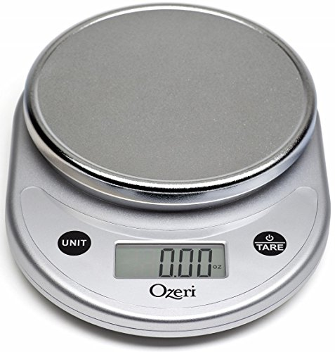 Ozeri Pronto Digital Multifunction Kitchen and Food Scale, Silver