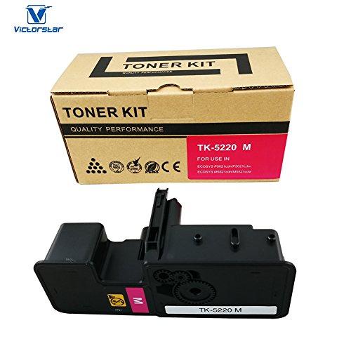 VICTORSTAR @ Cartuccia Toner Compatibile TK5220 / TK-5220 Black per Kyocera Kyocera ECOSYS P5021cdn, P5021cdw, M5521cdn, M5521cdw Stampanti Laser (Magenta)