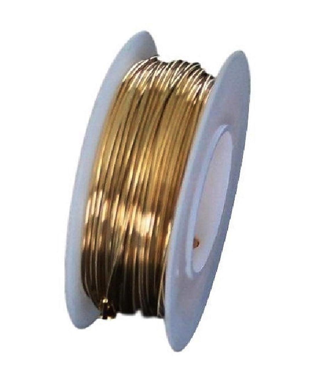 Red Brass Round Wire (Dead Soft) 1/4 LB. Choose Gauge (22Ga Spool -125Ft.)