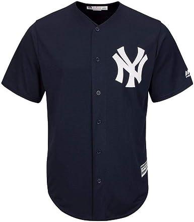 Majestic Athletic New York Yankees Cool Base MLB Replica Jersey Dark Navy Baseball Trikot tee T-Shirt