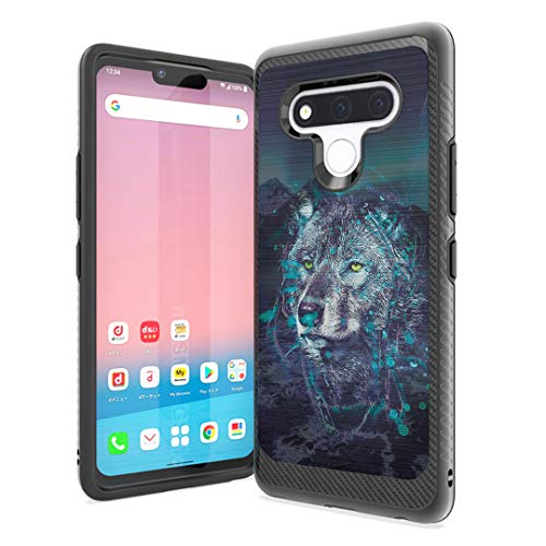 Izumi Case Compatible with Stylo 6 [Cute Women Men Design Slim Thin Fit Soft Grip Carbon Protective Black Case Cover] for LG Stylo 6 Spectrum and All Phone Carriers (Arctic Wolf)